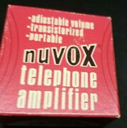 Vintage Hal-hen Nuvox Telephone Amplifier No. 978, Box And Instructions