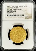 1404 -17 Gold Netherlands Ecu D'or A La Chaise William Bavaria Ngc Uncirculated