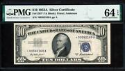 Fr.1707 1953a 10 Silver Certificate Star Pmg 64epq Choice New Uncirculated