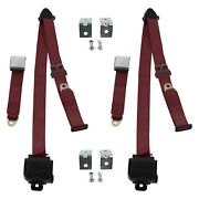 For Lincoln Continental 40 3-point Airplane Buckle Retractable Bucket Seat Belts