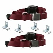 For Chevy Impala 71-76 3-point Airplane Buckle Retractable Bucket Seat Belts