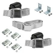 For Chevy Bel Air 55-57 2-point Airplane Buckle Retractable Bench Seat Belts