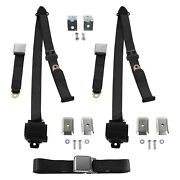 For Ford F-100 61-66 3-point Airplane Buckle Retractable Bench Seat Belts With