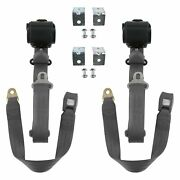 For Dodge D50 79-80 3-point Standard Buckle Retractable Bucket Seat Belts With