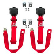 For Jeep Willys 44-52 3-point Standard Buckle Retractable Bucket Seat Belts With