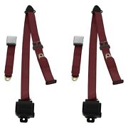 For Jeep Cj7 76-86 3-point Airplane Buckle Retractable Bucket Seat Belts,