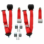 For Ford B-100 73-74 3-point Airplane Buckle Retractable Bucket Seat Belts With