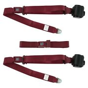 For Jeep Cj7 76-86 3-point Standard Buckle Retractable Bench Seat Belts,