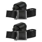 For Dodge D50 79-80 2-point Airplane Buckle Retractable Bucket Seat Belts Black