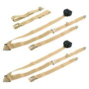 For Jeep Cj7 76-86 3-point Standard Buckle Retractable Bench Seat Belts, Tan