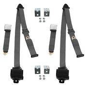 For Dodge Charger 66-67 3-point Airplane Buckle Retractable Bucket Seat Belts