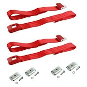 Safetboy Stbd4822 2-point Standard Bucket Lap Seat Belts W Bracketry, Red