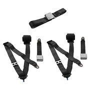 For Buick Special 50-58 3-point Airplane Buckle Retractable Bench Seat Belts