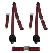 For Buick Roadmaster 50-53 3-point Airplane Buckle Retractable Bench Seat Belts