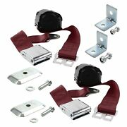 For Ford Model 40 33-34 2-point Airplane Buckle Retractable Bucket Seat Belts