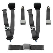 For Jeep Comanche 86-92 3-point Airplane Buckle Retractable Bench Seat Belts