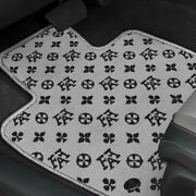 For Mazda 5 06-10 Fashion Auto Mat Carpeted 1st And 2nd Row Black/gray Floor Mats