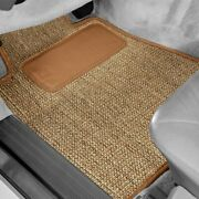 For Lincoln Mkx 16-18 Sisal Auto Mat Carpeted 1st And 2nd Row Oak Floor Mats