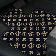 For Chevy C20 Pickup 67-69 Fashion Auto Mat Carpeted 1st Row Onyx Floor Mats