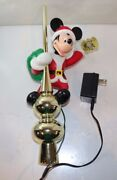 1995 Disney Christmas Mickey Mouse Lighted Lantern Tree Animated Topper Works