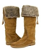 Jack Rogers Womenand039s Nell Faux Fur Suede High Boots 1198 Size 10 New