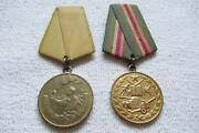 2x Order Albania Befreiungsmedaille And Medal For Militärdienst An Bandspang