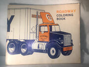 Vtg Roadway Express Tractor Trailer Trucking Co Promo Coloring Book Advertising