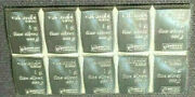 Block Of 10 One1 Gram 999 Silver Bars Taken From Valcambi Suisse Combibar