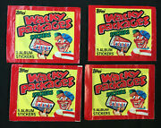 Wacky Packages 5 Album Stickers 4 Sealed Packs