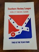 1976-77 Southern Hockey League Media Guide Yearbook Shl Year Book Rare