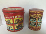 Barnumand039s Animals Crackers Tin 1979 Animal In Cages Design And Pail Bucket