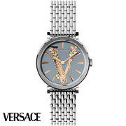Versace Veri00620 Virtus Gray Silver Rose Gold Stainless Steel Womenand039s Watch New