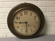 Antique Vtg Seth Thomas Shipandrsquos Office Industrial Wall Clock 16 1/2andrdquo Across Wow