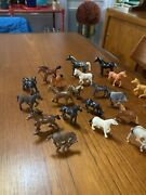 Toy Plastic Horses With Dogs, Sheep And Farm Animals