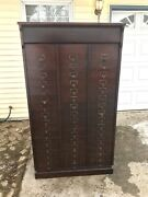 Free Ship Nj/nyc/phily Area Antique Filing Oak Letter File Cabinet 48 Slot