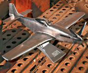 30 Silver Aluminum Wwii P51 Mustang Airplane Aviation Decor By Authentic Models