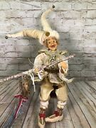 Vtg Katherineand039s Collection Wayne Kleski Jester Fairy Doll Shelf Sitter 22and039and039 Tall