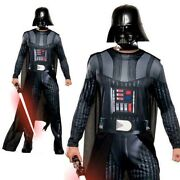 Mens Darth Vader Adults Fancy Dress Star Wars Villain Sci Fi Adults Costume Outf