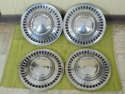 1961 Ford Hub Caps 14 Set Of 4 Wheel Covers Hubcaps 61