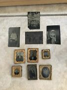 Lot Of 6 Ambrotypes And 4 Tintypes Antique Photo