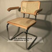 Chaise Cesca Chair Marcel Breuer 100 Made In Italy Natular Handecirctre Naturel