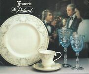 Fostoria Glass And Picard China Booklet - Matching Glass And China Patterns