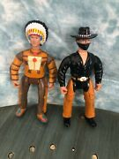 Vintage Legends Of The West Geronimo Billy The Kid Action Figure Lot