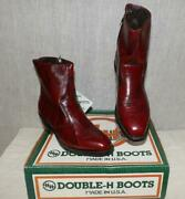 Orig Mens Vtg Retro 70s 80s Double H Ankle Boots Shoes Nos Nib Wide Made Usa