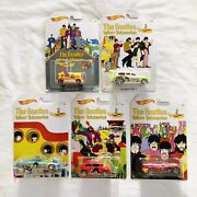 Hot Wheels The Beatles Yellow Submarine Limited Edition Lot Of 5 Toy Cars