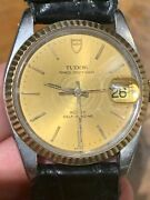 Tudor Oyster Date By Rolex Mens Watch With Oyster Band