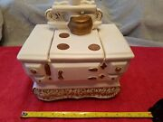 Vintage Mccoy Cast Iron Stove Oven Cookie Jar Pottery Made In Usa