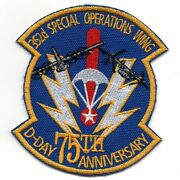 Usaf Air Force 252 Spec Ops Wing 75th Anniversary Blue Embroidered Jacket Patch