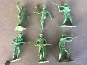 Louis Marx Russian Soldiers 1963 Green Mexican Plastimarx Rare Version