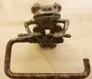 Brass Roll Tissue Paper Holder Hang Green Frog Toilet Wall Free Standing Toilet